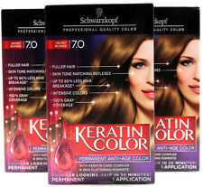 3 Schwarzkopf Keratin Color Permanent Hair Dry #7.0 Secret Blonde