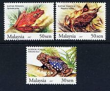 Malaysia 2007 Frogs MNH