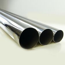 Universal 4inch OD T304 Stainless Steel Downpipe Exhaust Pipe 4 Feet Long Tubing