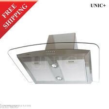 "30"" Stainless Steel Wall Mount Kitchen Range Hood Fan Ventless 3 speeds KRW001"