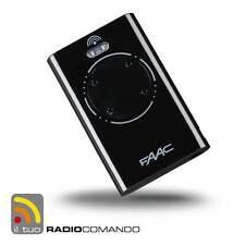Radiocomando apricancello originale FAAC XT4 433 mhz Nero modello MASTER