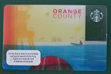 2013 Starbucks Regional ORANGE COUNTY OC California Gift Card ~  MINT Rare HTF a