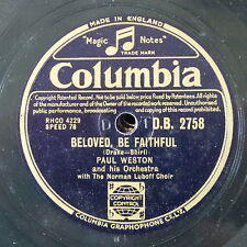78rpm PAUL WESTON beloved be faithful / nevertheless