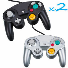 2 Brand New Controller for Nintendo GameCube or Wii -- BLACK and Silver