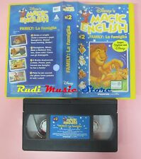 film VHS MAGIC ENGLISH DISNEY'S la famiglia Family VOL. 2 inglese (14**) no dvd