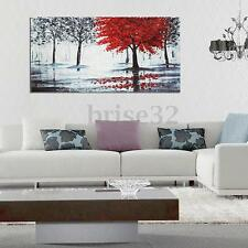 Modern Hand-painted Art Oil Forest Wall Decor Abstract Painting Canvas Unframe