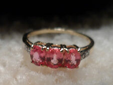 100% Authentic Sri Lanka 9K Padparadscha Sapphire Gold Ring Very RARE GEM