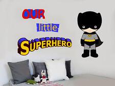 Our Little Superhero Wall Art Stickers Decals Super Hero Marvel Comic Batman