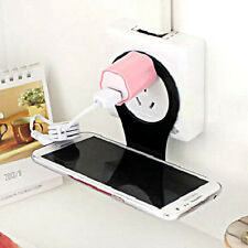 Smartphone Foldable Cell Phone Holder Wall Charger Hanger Charging Rack Shelf