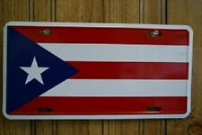 Puerto Rico Rican Aluminum License Plate Tag