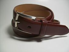 """Men new Brown leather belt with Silver Buckle L 38 - 40"""" #9006"""