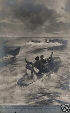 21327/ Künstler AK, Motorboote mit MG beschießen Russ. Flieger auf der Weichsel