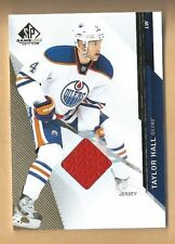 TAYLOR HALL JERSEY CARD SP GAME USED RARER ORANGE PATCH OILERS