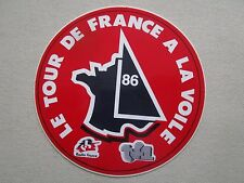AUTOCOLLANT STICKER AUFKLEBER TOUR DE FRANCE A LA VOILE 1986 TF1 RADIO FRANCE