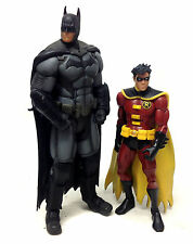 "DC Comics 6"" BATMAN & ROBIN toy action figure NICE SET! RARE justice Superman"