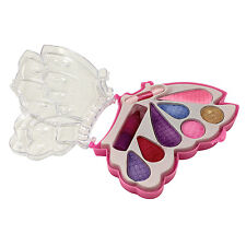 Girls Make Up Real Eyeshadow Lipstick Butterfly Compact Toy Gift New