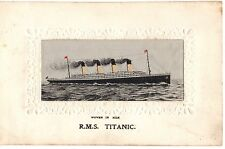 R.M.S. Titanic Silk Postcard White Star Line Shipping Interest