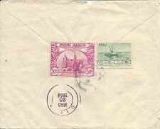 PERU - SCOTT'S # 458 AND C111 ON 1958 COVER TO U.S.