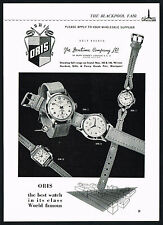 1950s Vintage 1957 ORIS Model 2242 2475 2538 2190 Watch Mid Century Art Print AD