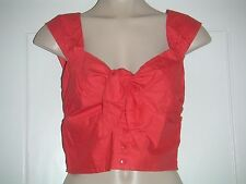 Orange Tie Cropped Top Size 14 New