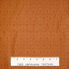 Calico Fabric - Lyndhurst Belgian Lace Brown Flower Damask Northcott OOP YARD