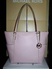 MICHAEL KORS NWT Jet Set Blossom PinkEW TZ Tote Shoulder Bag Pebble Leather $248
