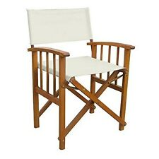 Set Of Two Directors Chair With Mission Style Arms Rustic Brown/Ivory NEW
