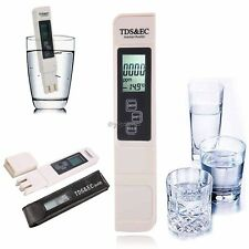Digital TDS EC Water Quality Meter Professional Carrying Case 0-9990ppm Range UK