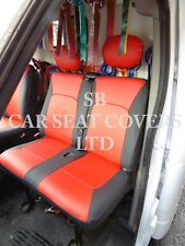 TO FIT A VAUXHALL MOVANO HORSEBOX VAN, SEAT COVERS, 2005, RED /BLACK LEATHERETTE