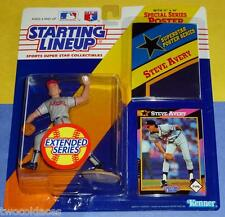 1992 extended STEVE AVERY Atlanta Braves Rookie - low s/h - Starting Lineup
