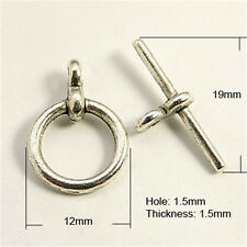 20Sets Tibetan Style Toggle & Tbar Donut Antique Silver Jewelry Tbars Clasps