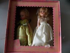 2 Vintage Dolls Mary Mary Quite Contrary & Wedding Doll in Virga box see photos