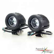 Motorcycle Black Bullet Passing Fog Lights Mini Headlight For Harley Bobber Hot