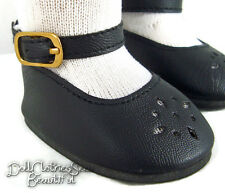 """Deal! Black Ankle Strap Shoes for 18"""" American Girl Doll Clothes Moniques Brand"""