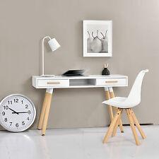 [en.casa]® Retro Schreibtisch weiß 120cm Computertisch Büro Tisch Konsole
