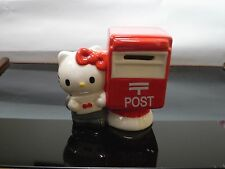 Hello Kitty ceramic figurine Japan Post office mailbox piggy bank Sanrio 2012