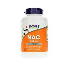 NAC, N-Acetyl Cysteine, 600mg x 250Caps, Colds, FLU, Now Foods