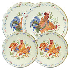 Corelle COUNTRY MORNING ROOSTER 4 PC Electric Burner Covers Beige