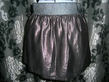 NEW Forever 21 - Purple Elasticated Short Party Skirt  - Size 10-12 - Euro 38