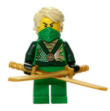 LEGO 70725 Ninjago Green Ninja Lloyd Rebooted Minifigure with Swords