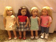 Our Generation Battat Dolls Lot Of 4! All Dressed Up w/ Shoes - Great Condition!