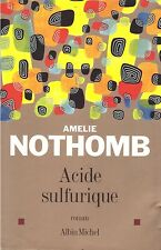 AMELIE NOTHOMB ACIDE SULFURIQUE + PARIS POSTER GUIDE
