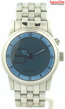 Fossil BG-1043 Ana/Digi Stainless Steel Blue Dial Quartz Alarm Men's Watch