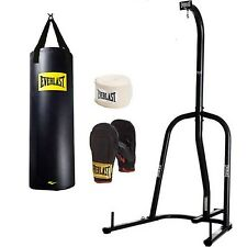 Everlast 100 lb. Heavy Bag Kit and Single-Station Heavy Bag Stand Value Bundle