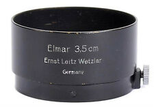 Leitz FLQOO LEICA Summaron-Elmar 3.5cm fit RARE!! Black Paint Clamp-On Lens Hood