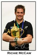 RICHIE McCAW SIGNED ALL BLACKS STAR AUTOGRAPH  LARGE POSTER PHOTO PRINT.