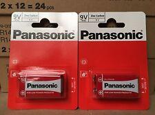 2 X Single Pack Panasonic  9V Size Batteries (2 Pcs) 1st Class Del