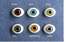 Doll Eyes: #FG High Quality Glass Flat  Eyes 14mm: CHOICE of color.