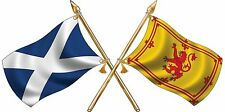 Large St Andrews/ Rampant Lion Crossed Flags Sticker Truck Car Motorhome Van