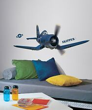 New Giant DISNEY PLANES SKIPPER WALL DECALS Airplanes Stickers Boys Room Decor